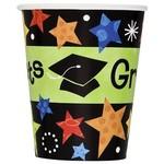 Cups-Graduation Star -9oz-8 pk-Paper (Seasonal)