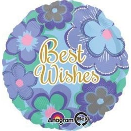 Foil Balloon-Best Wishes-18''