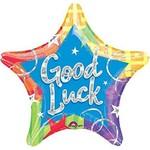 Foil Balloon - Good Luck Star - 18''