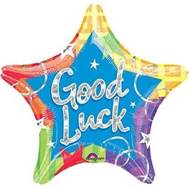 Foil Balloon - Good Luck Star - 18''