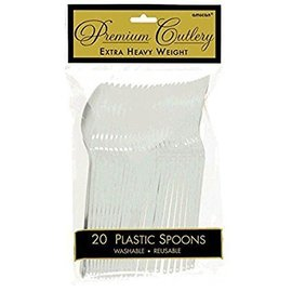 Spoons-Heavy Weight-Silver-20pk-Plastic