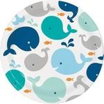 Luncheon Plates-LIL Spout Blue-8pk-Paper