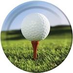 Plates-LN-Sports Fanatic Golf -8pk-Paper