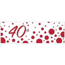 Banner Plastic -  40th - Sparkle and Shine-20inx60in