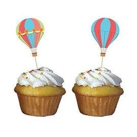 Cupcake Picks-Up Up and Away-3.5''x2''-12pk