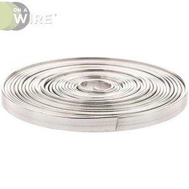 Flat Wire-Decorative-Silver-Aluminium-2.74m