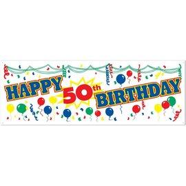 Banner-Happy 50th Birthday-21inx5ft