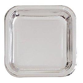 Plates-BEV-Square-Silver Foil-8pk