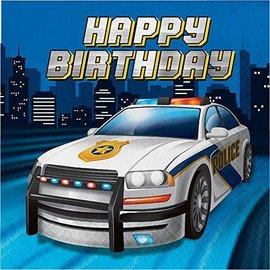 Napkins-LN-Police Party-16pk-2ply