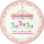 """Luncheon Paper Plates- Carousel- 8pk/9"""""""
