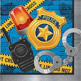 Napkins-LN-Police Party-16pk-2ply