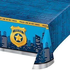 """Table Cover - Plastic - Rectangle - Police Party AOP - 54'' x 102"""" - 1pc"""
