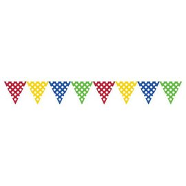 Banner-Multi Color with White Dots-9ftx6.25in