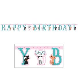 Banner-Cat Purr-Fect Party-10ftx7in