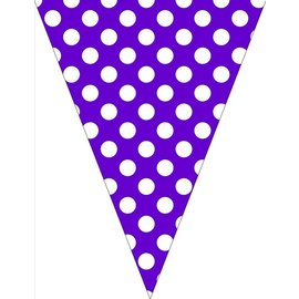 Banners-Amethyst Dots-9ft x 6.25in
