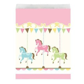 Treat Bags-Carousel-6.5''x8.75''-10pk