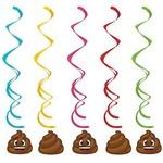 Danglers-Poop Emojions Dizzy-39''-5pk
