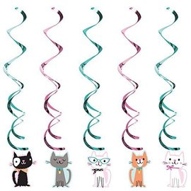 Danglers-Cat Purr-Fect Party Dizzy-39''-5pk