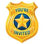 Invitations-Police Party-8pk