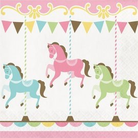 Luncheon Napkins- Carousel- 16pk-2ply