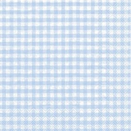 Napkins - LN - Gingham Baby Blue-16pk-2ply- Discontinued/Final Sale)