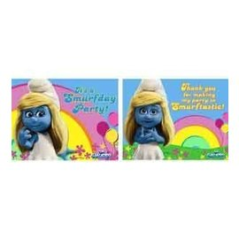 Invitations-Smurfs (Discontinued)-8pk