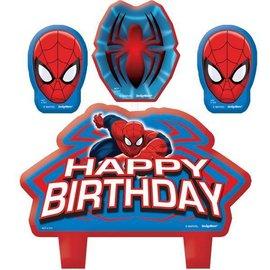 Candle Set-Spider Man-4pk