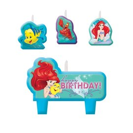 Candle Set-Little Mermaid Ariel-4pk