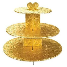 3 Tier Gold Cupcake Stand