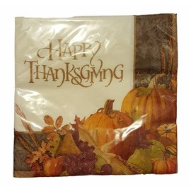 Napkins - LN - Happy Thanksgiving - 16pc (Discontinued)