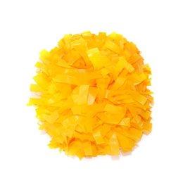 Pom Poms-Yellow-Plastic-25pk