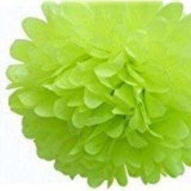 Pom Poms-Olive-Plastic-25pk