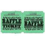 Ticket Roll-Raffle-Double-1000 ticket (Green)