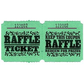 Ticket Roll-Raffle-Double-1000 ticket (Green)