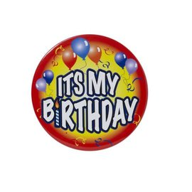 Jumbo Birthday Button - Its My Birthday Red