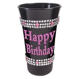 Shot Glass - Happy Birthday Pink