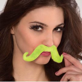 Moustache-Glow in the Dark