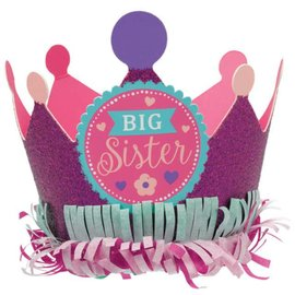 Crown Paper-Glitter Big Sister