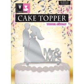 Cake Topper Mr. & Mrs.