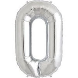 """Foil Balloon - #0 Silver - 34"""""""