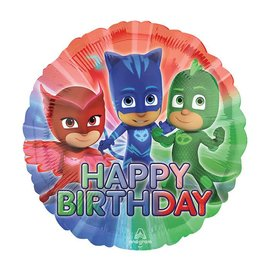 "Foil Balloon - Happy Birthday PJ Masks - 18"""