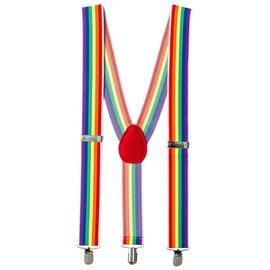 Costume Accessory-Suspenders-Rainbow-1pkg