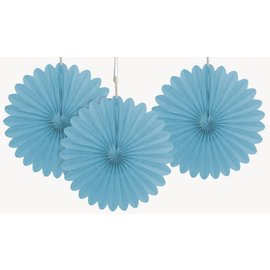 Paper Fans - Powder Blue- 3pcs/6""