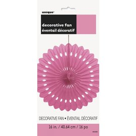 Hanging Decorations-Decorative Paper Fan-Light Pink-Paper-16""