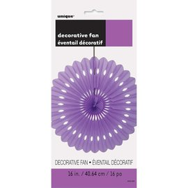 Hanging Decoration-Decorative Fan-Purple-Paper-16""