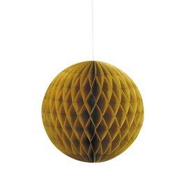 "Honeycomb Ball - Gold- 1pc/16"""