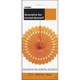 Hanging Decorations-Paper Fan-Orange-1 Count