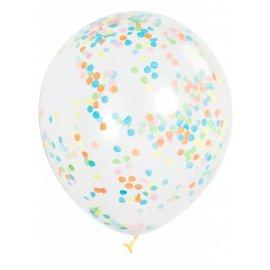Balloons - Confetti Multi-colour 6pk