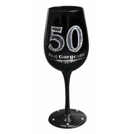 Wine Glass - 50 And Gorgeous