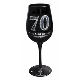 Wine Glass - 70 And Gorgeous